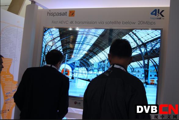 NAB 2014: Hispasat展示4K超高清卫星电视的实时传输与播放