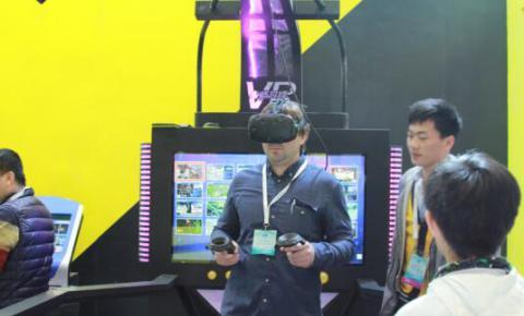 身临其境VR主题公园,开创游戏<font color=