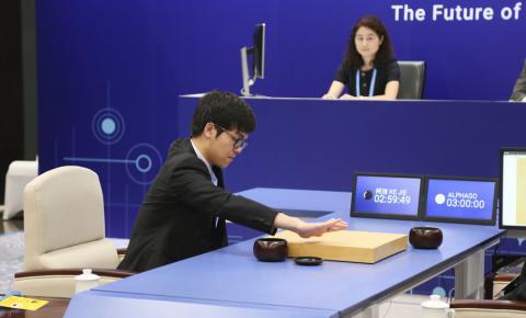 【世纪对弈】人类围棋最后的希望——柯洁 首局以1/4子惜败 AlphaGo2.<font color=