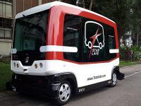 台湾首辆无人驾驶巴士开放试乘 可容纳12名乘客(图)