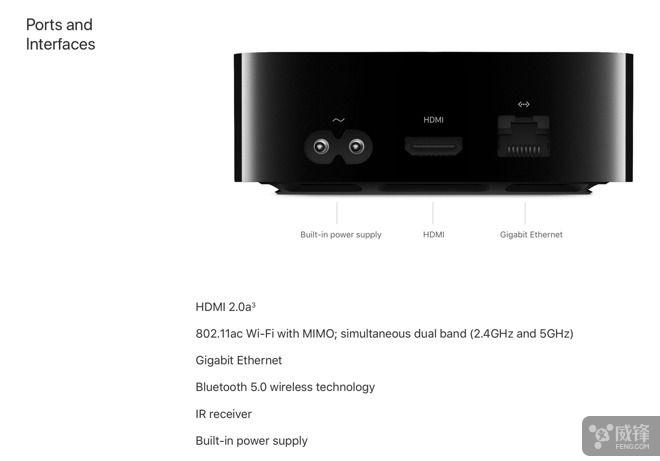 Apple TV 4K移除UBS-C:增加千兆<font color=