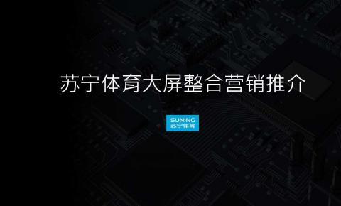 PPTV董鹏:苏宁体育大屏整合营销推介(PPT)
