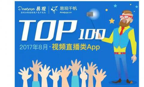 易观发布8月视频直播排行 斗鱼跻身TOP20居同类榜首