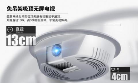 首款吸顶无屏电视源于美高微型投影仪
