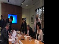 中央电视台与巴西旗手传媒集团签约仪式