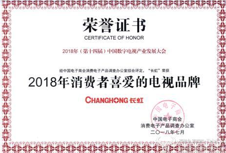 """玩转""""视界杯"""" 长虹CHiQ电视夺行业三大奖"""