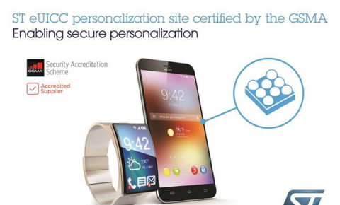意法半导体成为首家被GSMA认可的芯片制造商