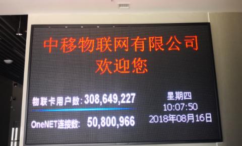 中移物联用户规模达3.84亿 联通电信IoT连接数均破7千万