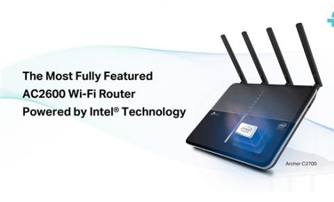 TP-Link发布旗下首款Intel方案无线路由C2700:5个千兆网口