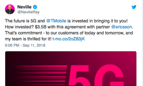 爱立信获T-Mobile US 35亿美元5G合同