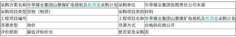 华亭煤业集团山寨煤矿电视机及<font color=