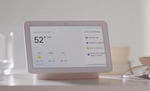 谷歌发布Home Hub:一款带屏幕的<font color=