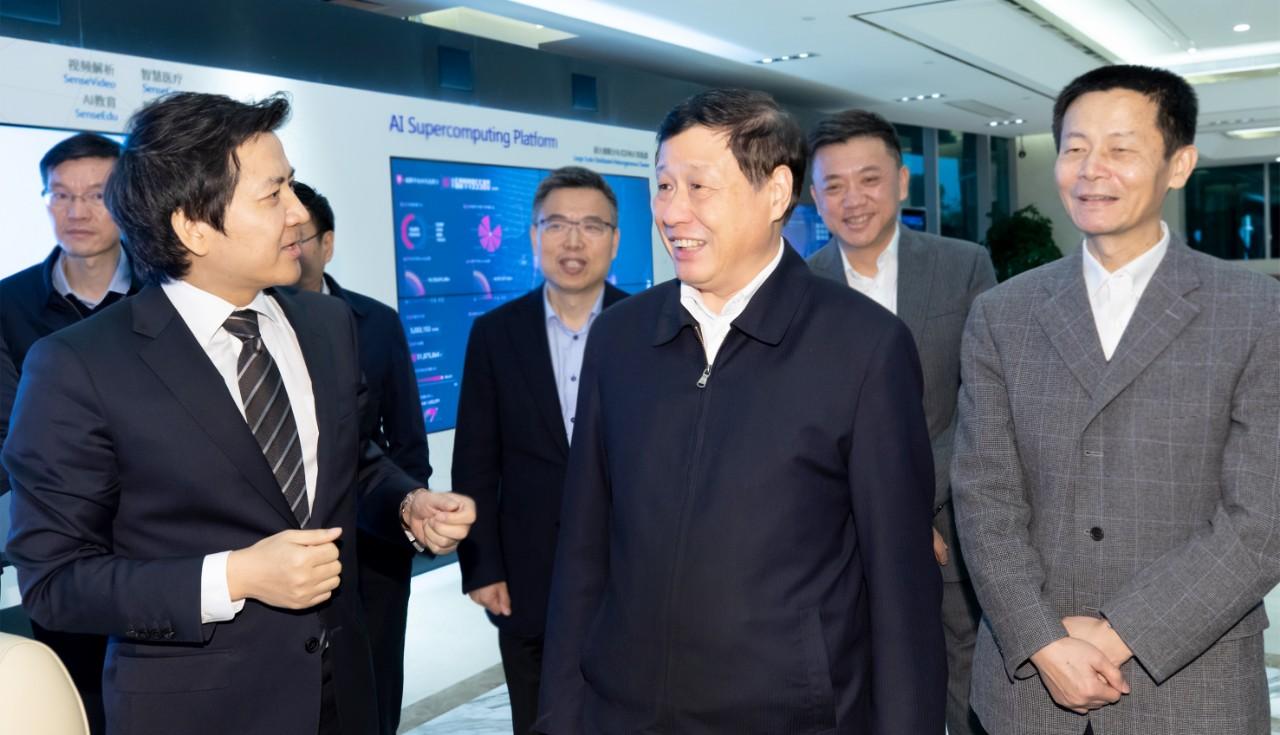 上海市长应勇参观商汤科技上海公司
