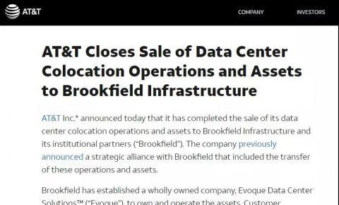 AT&T、Verizon将IDC业务都卖了!中国<font color=