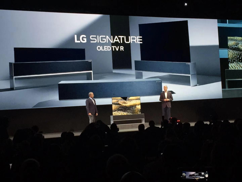 LG发布可卷曲OLED电视,携手谷歌<font color=