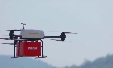 未来物流场景出现,CES2019京东推出无人机和机器人实现快递