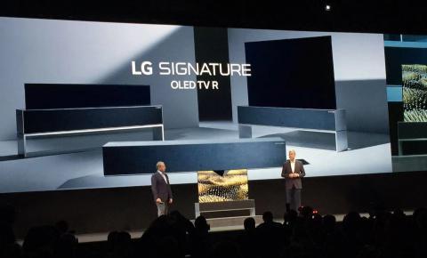 LG发布可卷曲OLED电视,携手谷歌亚马逊苹果做大智能家居
