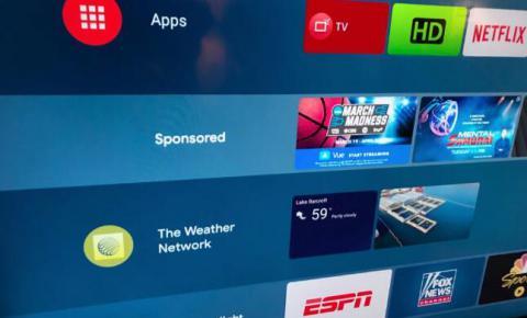 谷歌Android TV主屏幕广告功能来了