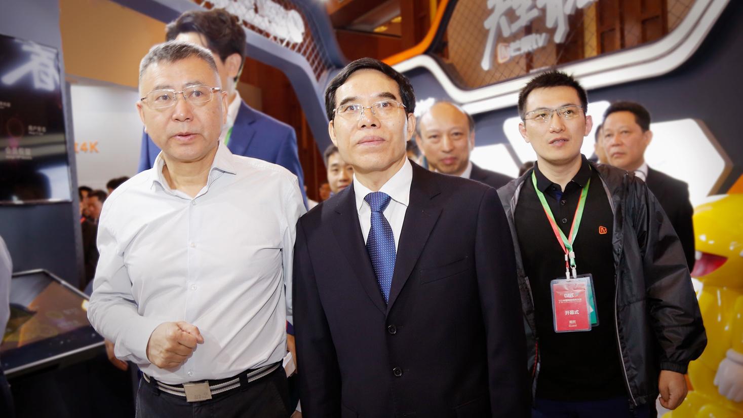 聂辰席视察芒果TV展区,湖南广电媒体融合创新成绩再获肯定