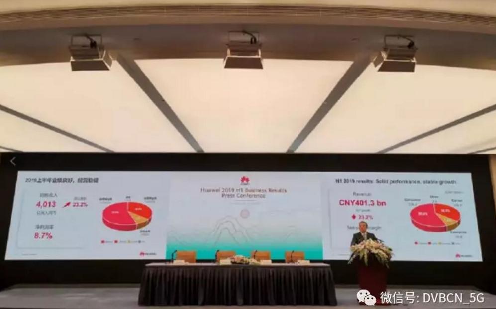 华为上半年营收4013亿 同比增长23.2%