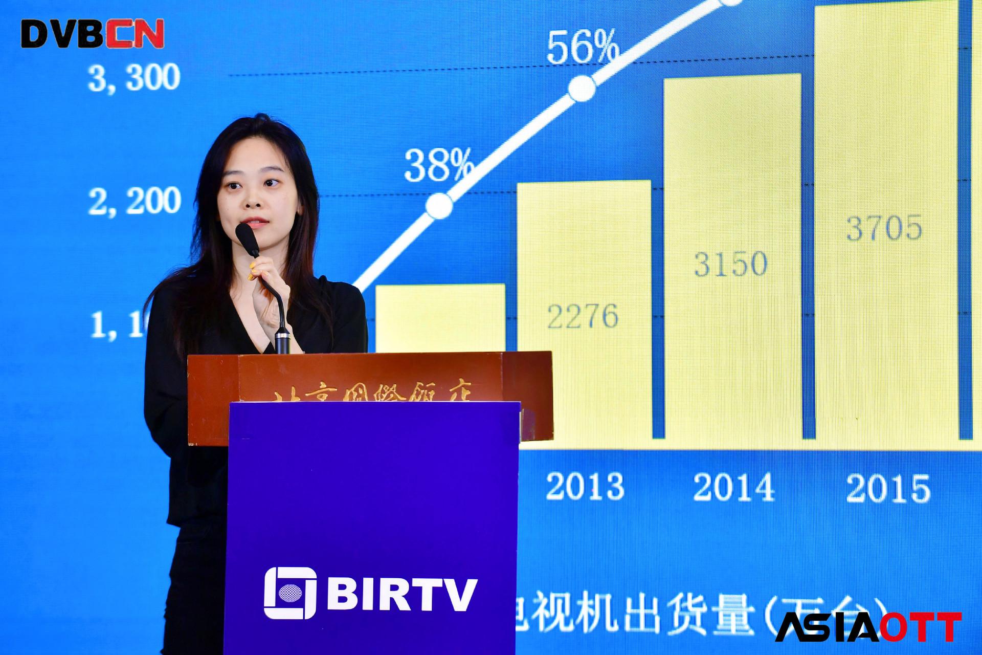 【BIRTV2019】尼尔森网联胡若楠:OTT赶上IPTV用户量级,2019Q2共同趋向2.8亿