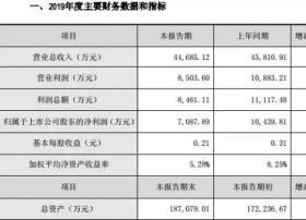 朗玛信息2019全年净利同比下降32.11% 子公司朗玛移动业务收入稳定增长