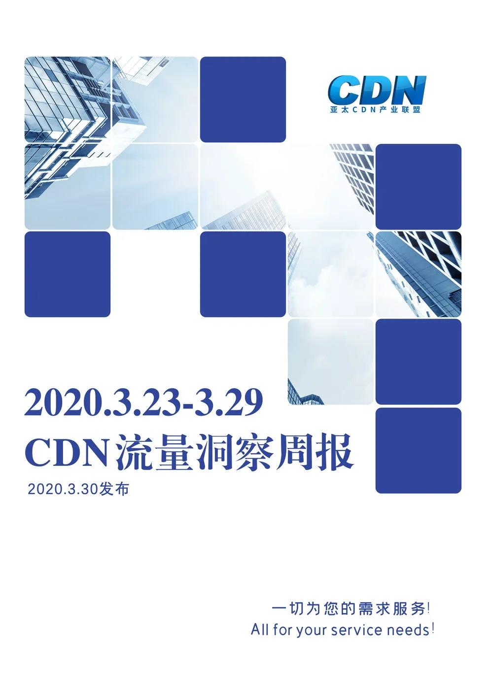 【第4期】3.23-3.29|CDN流量洞察周报