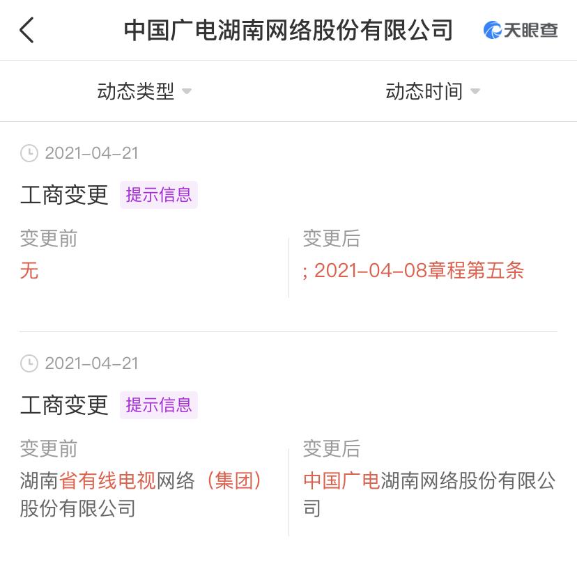 又一家完成更名!中国广电湖南网络股份有限公司来了!